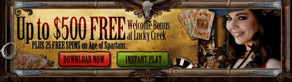 Lucky Creek Casino Promotion Welcome Bonus
