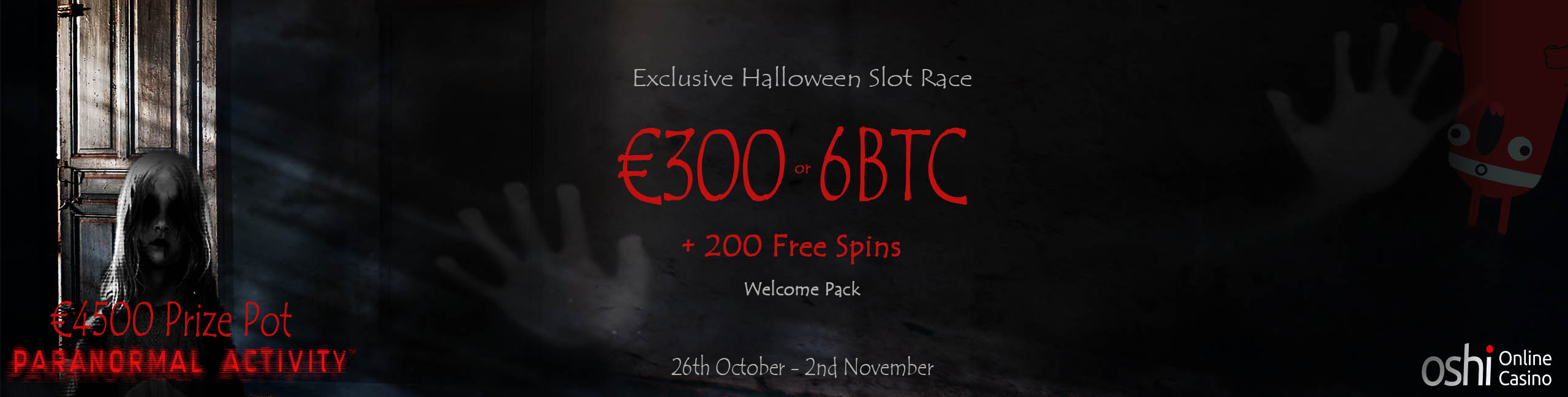 Oshi Bitcoin Casino iSoftBet Paranormal Activity
