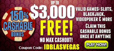 Las Vegas USA Casino $3,000 FREE Welcome Bonus