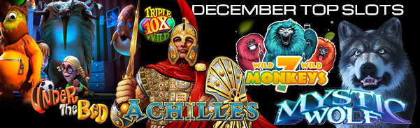 Deckmedia December Top Slots by Spins RTG Rival WGS Pragmatic Play Betsoft