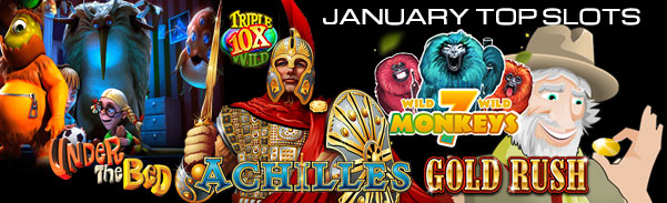 January 2017 Top Slots by Spins
