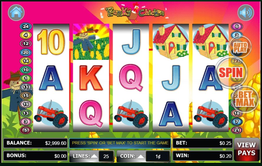 Lincoln Casino 100 FREE Spins Funky Chicken