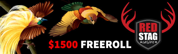 Red Stag Casino Birds of Paradise $1500 FREE ROLL