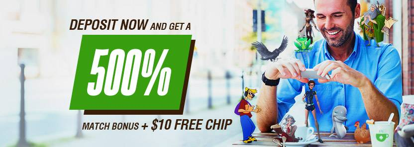 Cafe Casino $10 FREE Chip