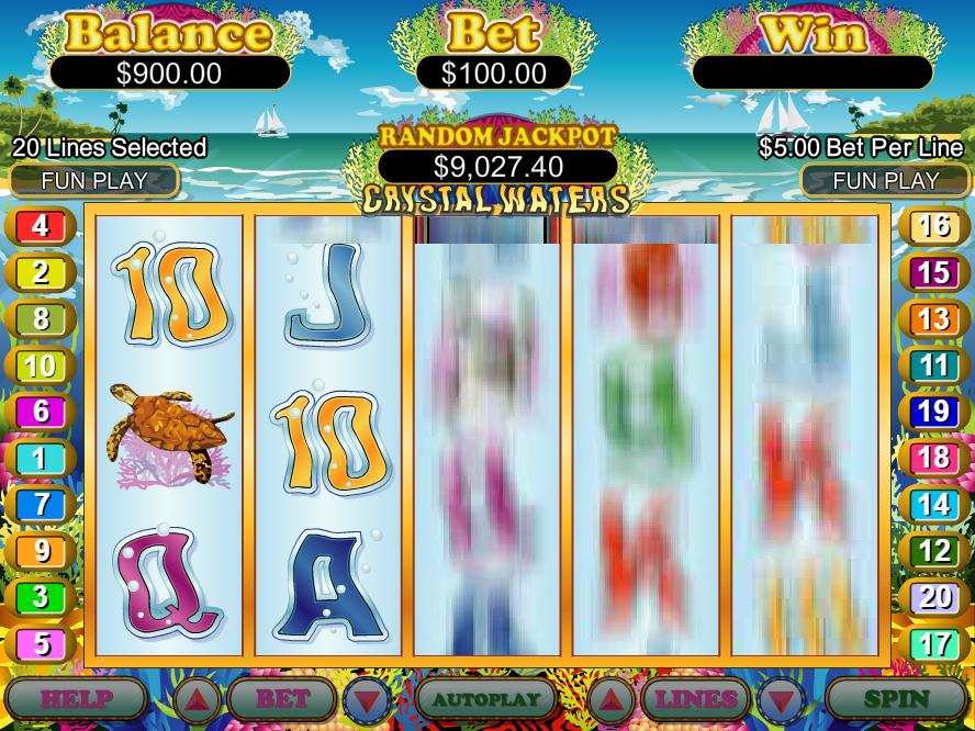 Royal Ace Casino RTG Crystal Waters FREE Spins No Deposit Bonus