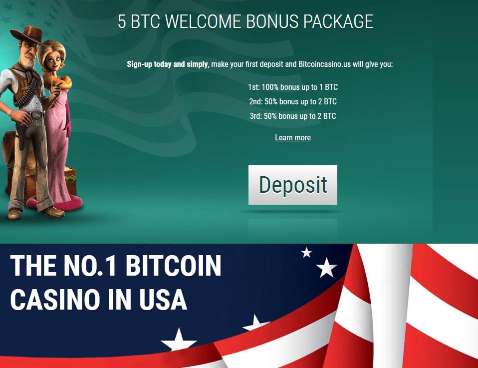 BitcoinCasino.US Welcome Bonus Pack