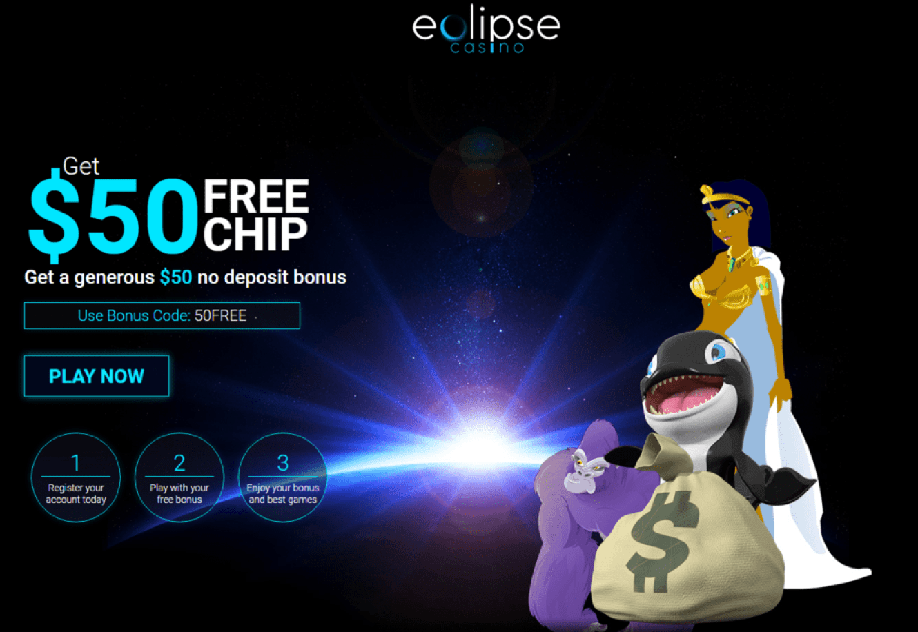 Eclipse Casino $50 FREE Chip No Deposit Bonus