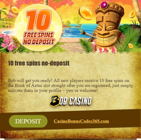 Bob Casino 10 FREE Spins