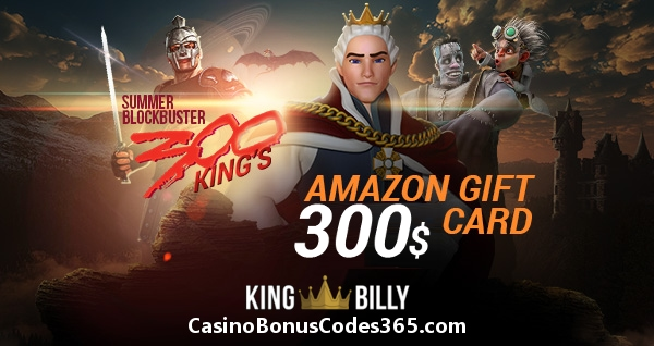 King Billy Casino $300 Amazon Gift