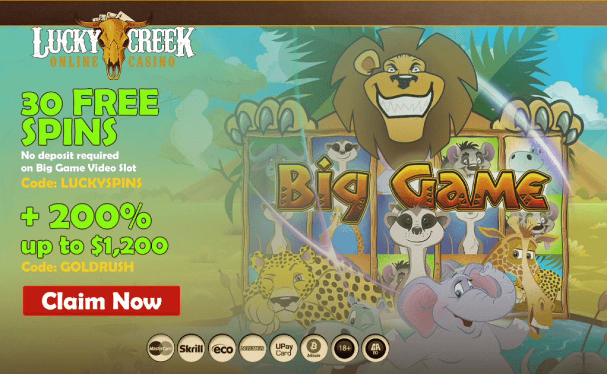 lucky creek casino spins bonus code