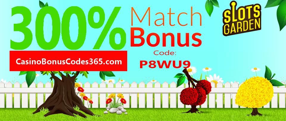 Slots Garden Exclusive 300% Bonus