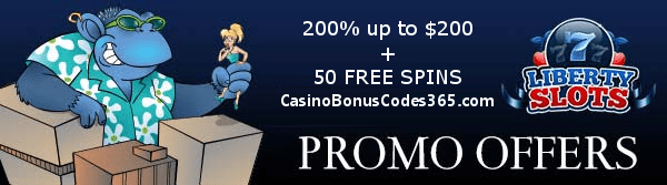 Liberty Slots 200% up to $200 plus 50 FREE SPINS on Cool Bananas WGS