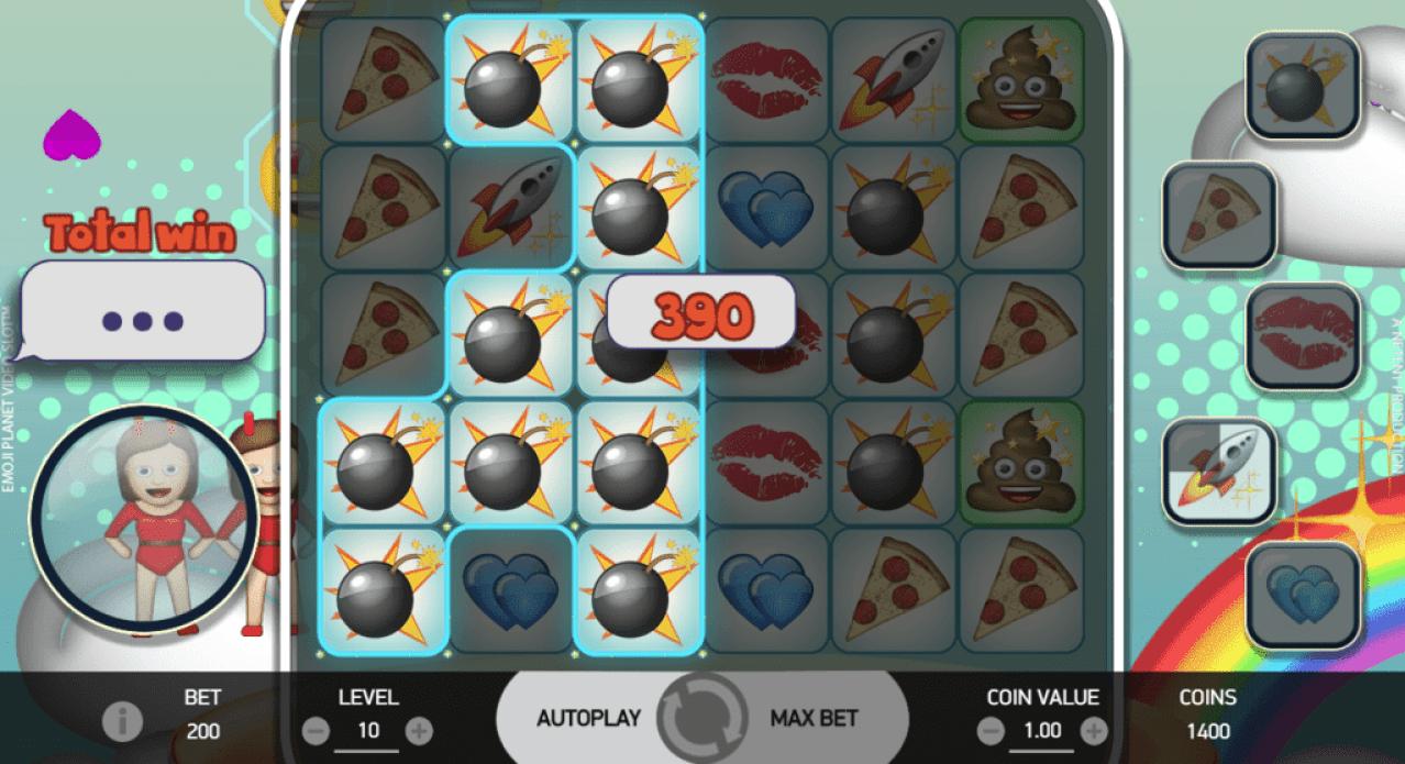 Freaky Aces NetEnt Emoji Planet