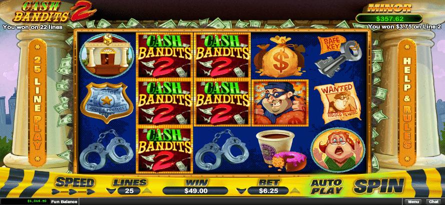 Raging Bull Casino RTG Cash Bandits 2