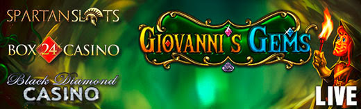 Spartan Slots Box 24 Casino Black Diamond Casino Betsoft Giovannis Gems