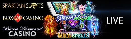 Spartan Slots Box 24 Casino Black Diamond Casino Pragmatic Play Wild Spells LIVE
