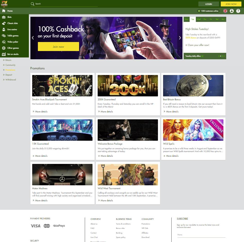 7 reels casino bonus codes