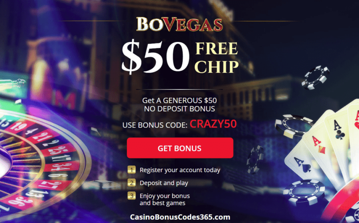 BoVegas Casino CRAZY50 $50 No Deposit FREE Chips