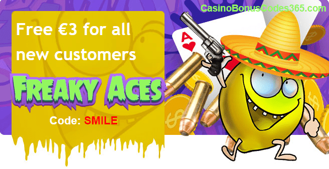 Freaky Aces €3 No Deposit FREE Chips