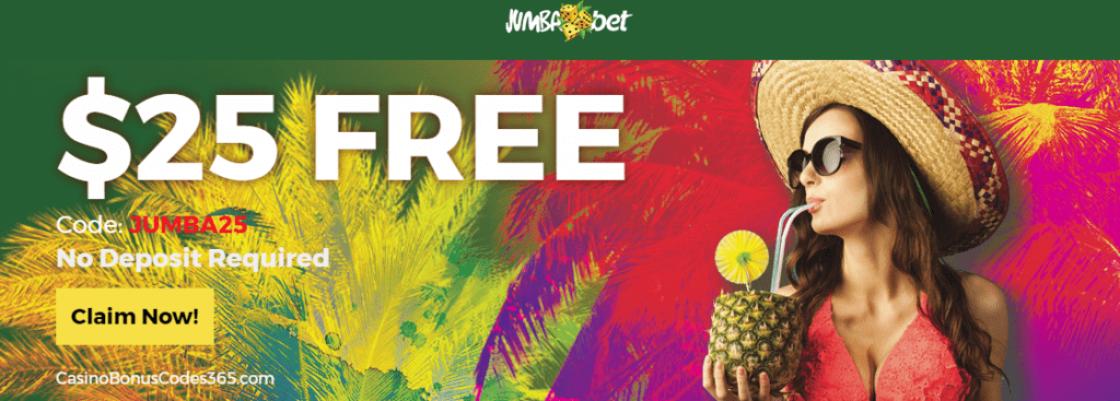 Jumba Bet 25 No Deposit Free Chip Casino Bonus Codes 365
