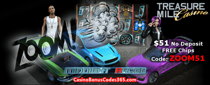 Treasure Mile Casino ZOOM51 October No Deposit FREE Chips Promo