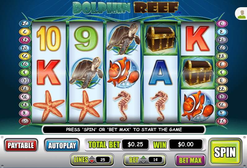 Liberty Slots WGS Dolphin Reef
