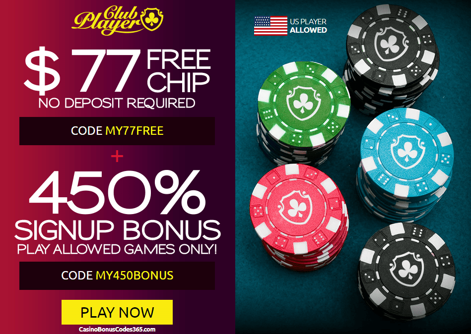 Club Player Casino Free Chip