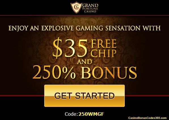 Grand fortune casino free chip