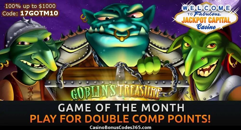 Jackpot Capital Game of teh Month RTG Goblins Treasure
