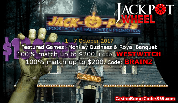 Jackpot Wheel Spooktacular Halloween Promotion