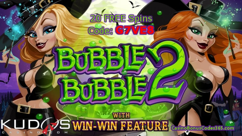 Kudos Casino RTG Bubble Bubble 2 new game 20 FREE Spins