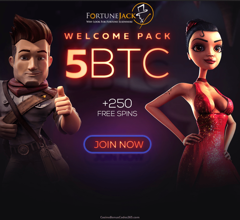 FortuneJack Casino Exclusive 50% UP TO 250 mBTC DEPOSIT BONUS + 100 FREE SPINS ON TOP OF THE MASSIVE BOOSTER START UP TO 5BTC + 250 FREE SPINS