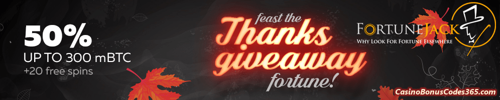Fortunejack Casino Thanksgiving Promotion
