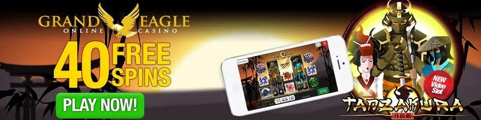 Grand Eagle Casino Saucify New Game 40 FREE Spins Tanzakura