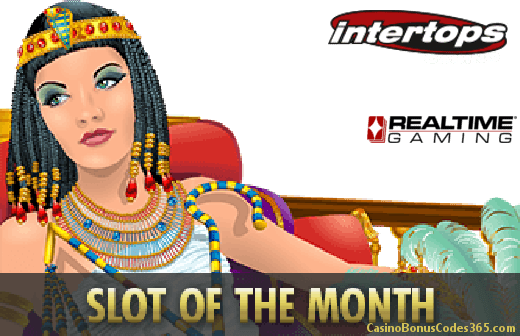 Intertops Casino Red RTG Cleopatras Gold Slot of The Month