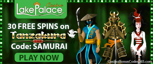 Lake Palace Casino New Game Saucify Tanzakura 30 No Deposit FREE Spins
