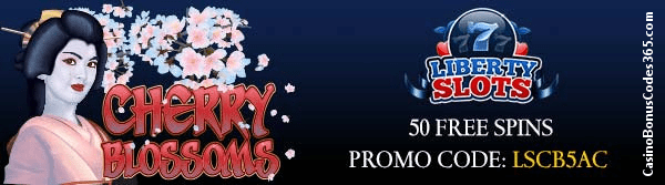 Liberty Slots WGS 50 FREE Spins on Cherry Blossoms
