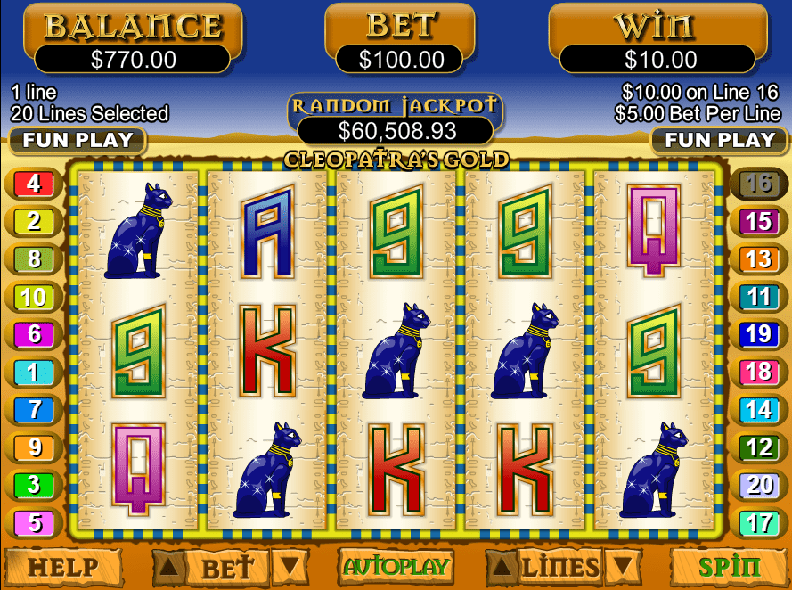 Casino Extreme RTG Cleopatras Gold Slot of The Month