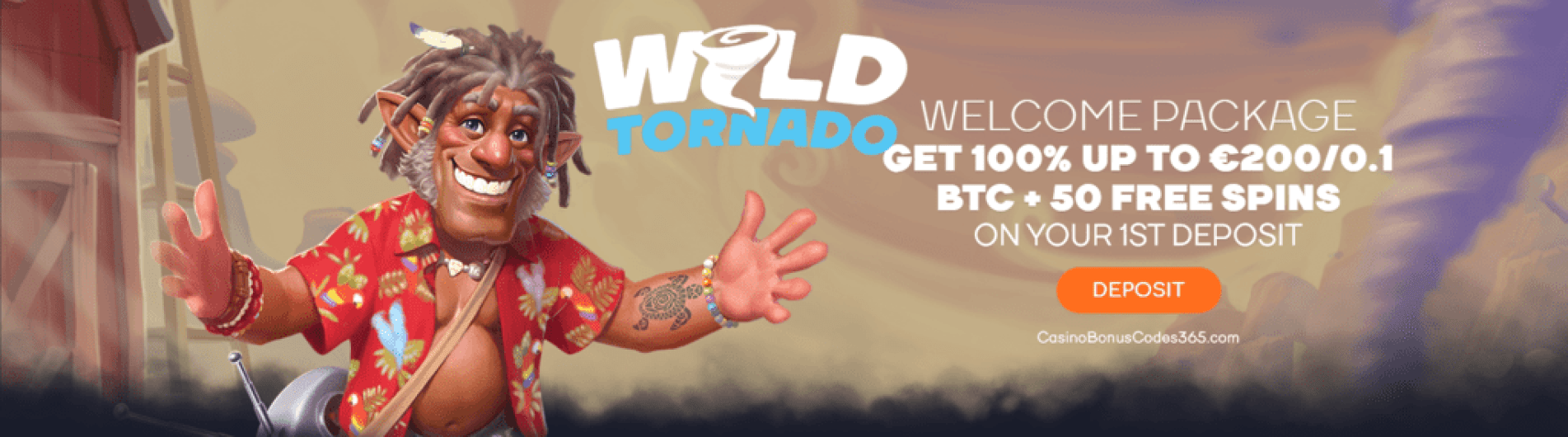 WildTornado Casino €450 Bonus plus 150 FREE Spins Welcome Package
