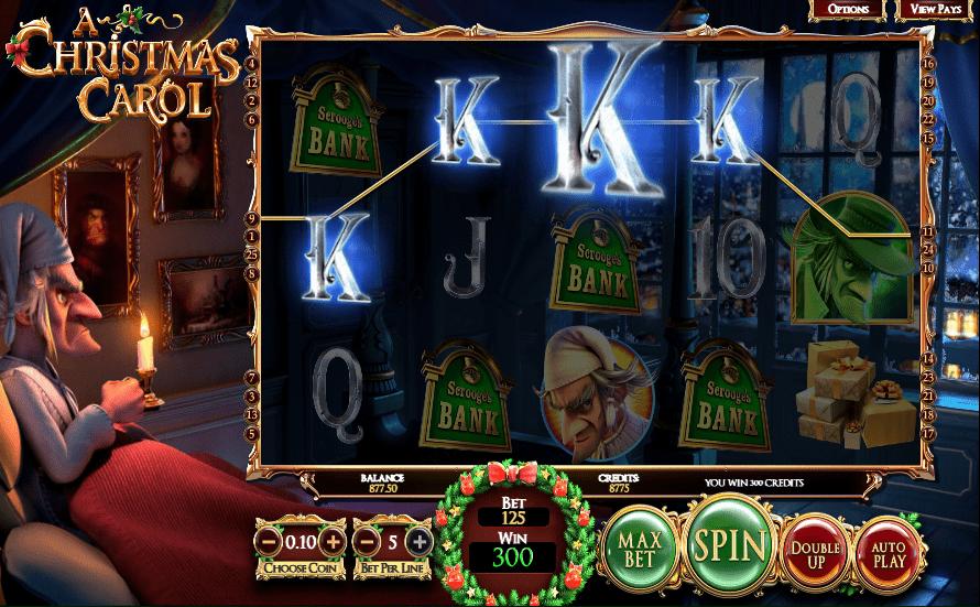 Vegas Crest Casino BetSoft A Christmas Carol