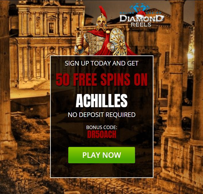 Diamond Reels Casino Exclusive 50 Free Achilles Spins Casino