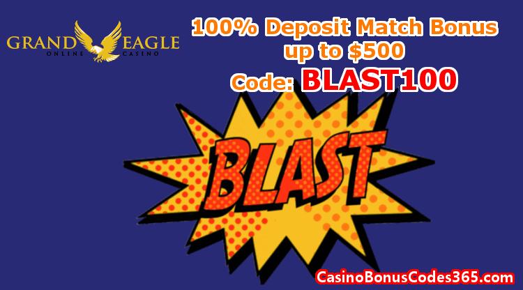 Grand Eagle Casino December Promo 100% Bonus up to $500