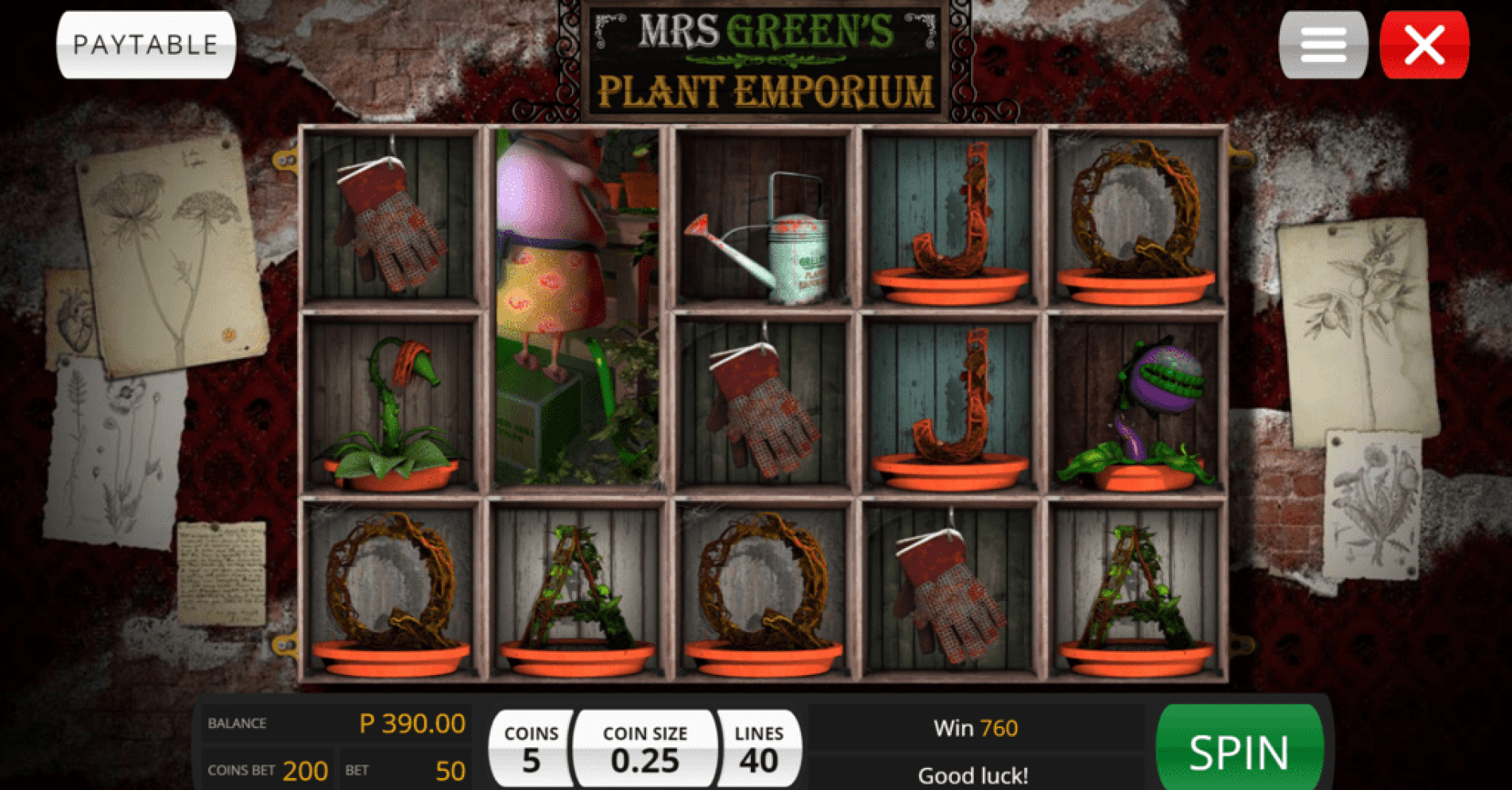 Jackpot Wheel Saucify Mrs Green Plant Emporium 40 FREE Spins plus 300% up to $600