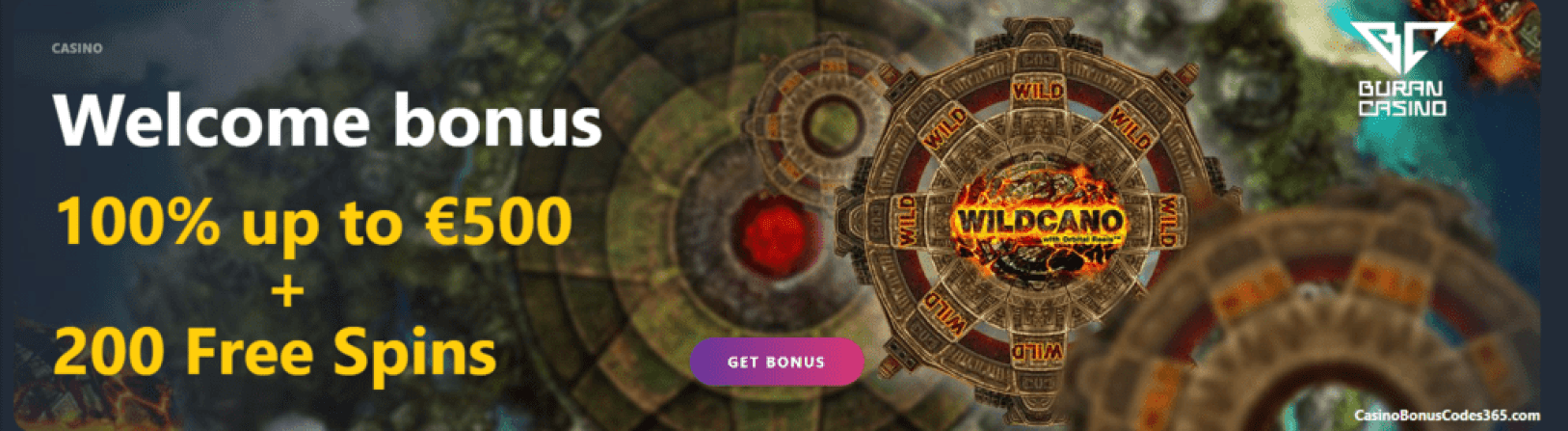 Buran Casino €500 Bonus Plus 200 FREE Spins