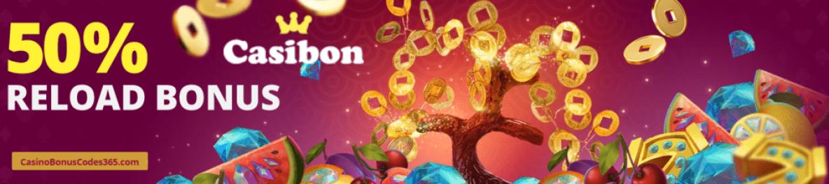 Casibon Casino 50% Reload Bonus