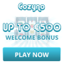 Cozyno Casino 150% up to €600 plus 50 FREE Spins
