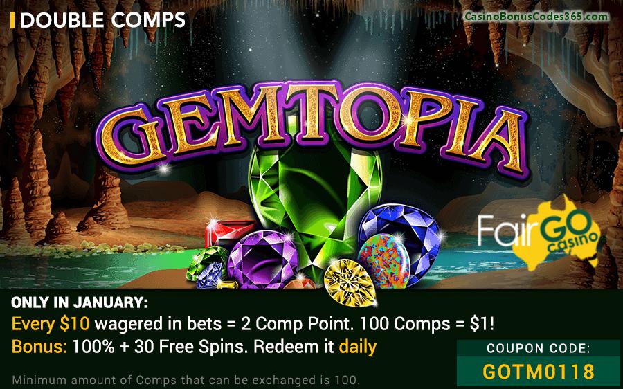 Fair Go Casino RTG Gemtopia Game of The Month