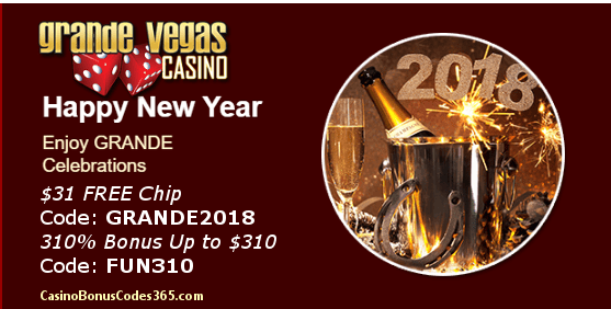 Grande Vegas Casino Happy New Year 2018