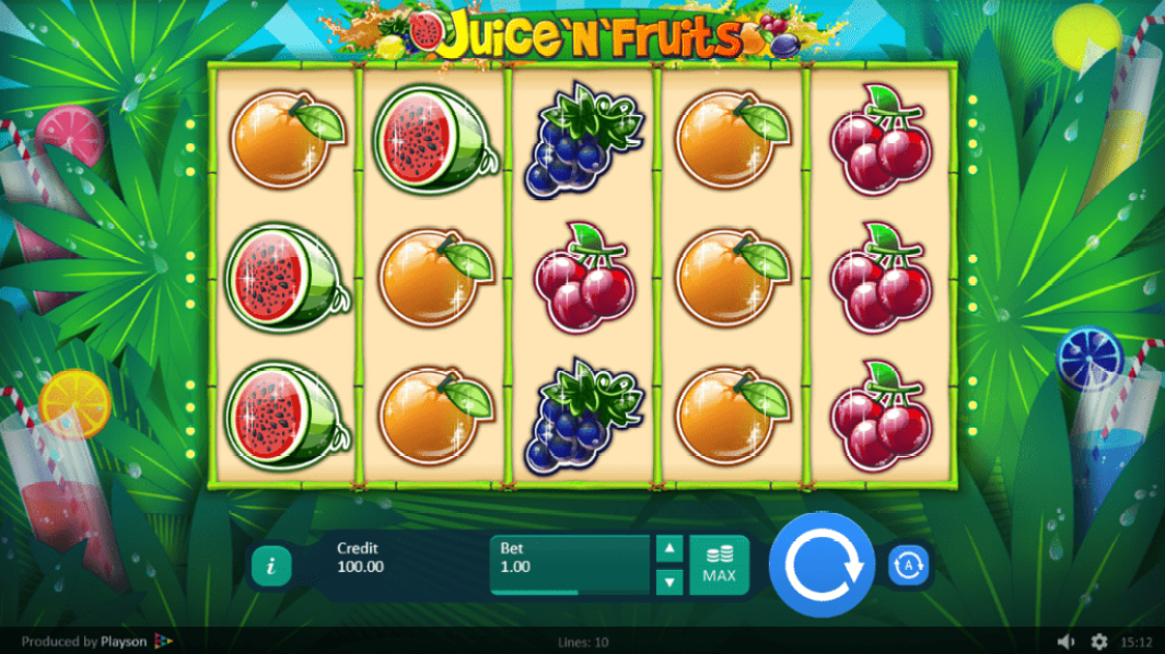 SlotoHit Playson Juice N Fruits 30 FREE Spins