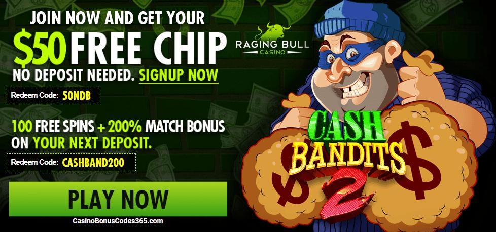 Raging Bull $100 Free Chip